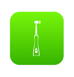 electric toothbrush icon digital green vector image