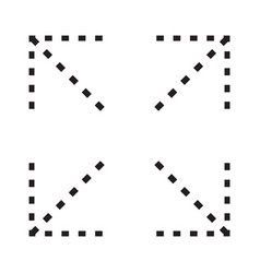 Expand to full screen or full screen - icon vector