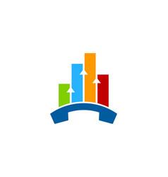 graph call logo icon design vector image
