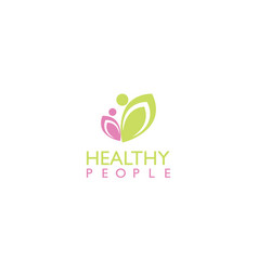healthy people beauty logo vector image
