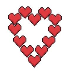 heart love romantic design vector image