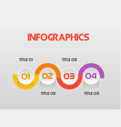 horizontal steps infographics - can a vector image