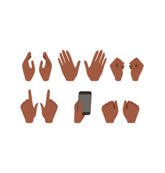 human african american hands showing different vector image