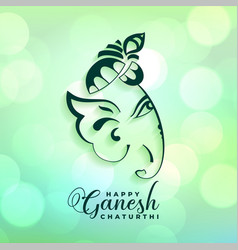 Indian ganesh chaturthi festival greeting design vector