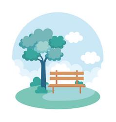 landscape park scene icon vector image
