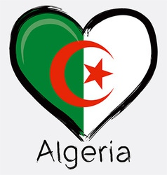 love algeria flag vector image