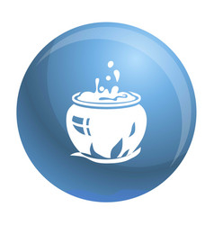 Magic cauldron icon simple style vector