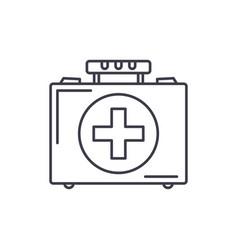 medical case line icon concept medical case vector image