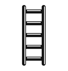 Metal ladder icon simple style vector