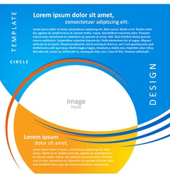 Mock-up design template geometric abstract blue vector