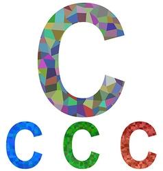 Mosaic font design - letter c vector