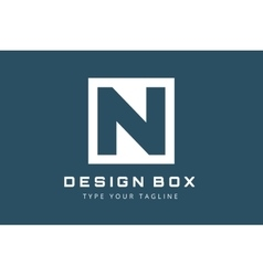 N logo icon template monogram vector image