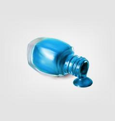 Nail polish bottle on white background vector