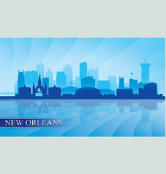 new orleans city skyline silhouette background vector image