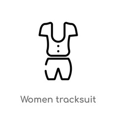 outline women tracksuit icon isolated black vector image