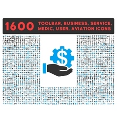 Payment service icon with large pictogram vector