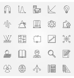Physics icons set vector