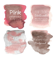 pink abstract watercolor background vector image