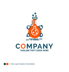 Research laboratory flask tube development logo vector