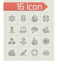 Saiboat icon set vector