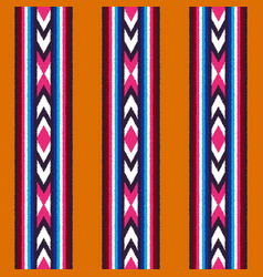 seamless native ethnic ornamental stripes pattern vector image