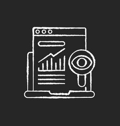search marketing chalk white icon on black vector image