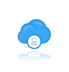 secure cloud access data protection icon vector image