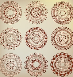 Set of ethnic ornaments hand drawn vector