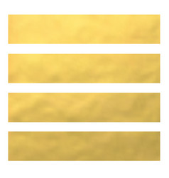 set of golden foil bannerswebsite headers vector image