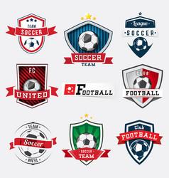 Set soccer football logos and emblems vector