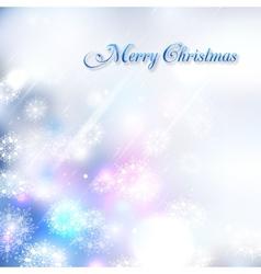 Shining christmas background vector image