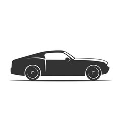 silhouette of a sports car side view vector image