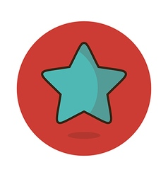 Star favorite icon vector