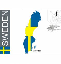 Sweden vector image