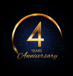 Template logo 4 year anniversary vector