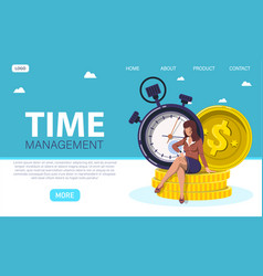 time management abstract concept vector image
