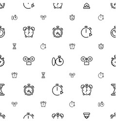 Timer icons pattern seamless white background vector