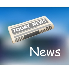Todays news newspaper icon vector image