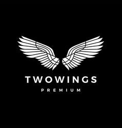Two wings chiaroscuro logo icon vector