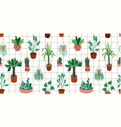 urban jungle seamless pattern with trendy vector image