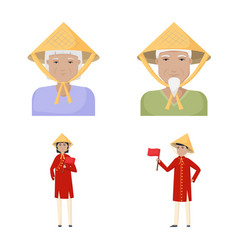 Vietnam and tourism icon vector