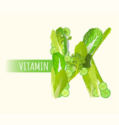 Vitamin k letter vector