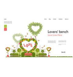 Wedding arch for ceremony template banner vector