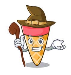 Witch ice cream tone mascot cartoon vector