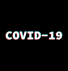 word covid-19 abbreviation coronavirus vector image