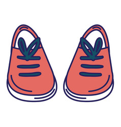 young shoes isolated icon vector image