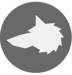 Head wolf sign - vector