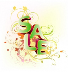 sale styled design vector image vector image