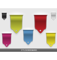 Stylish bookmarks vector image vector image