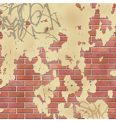 Wall with Plaster vector image